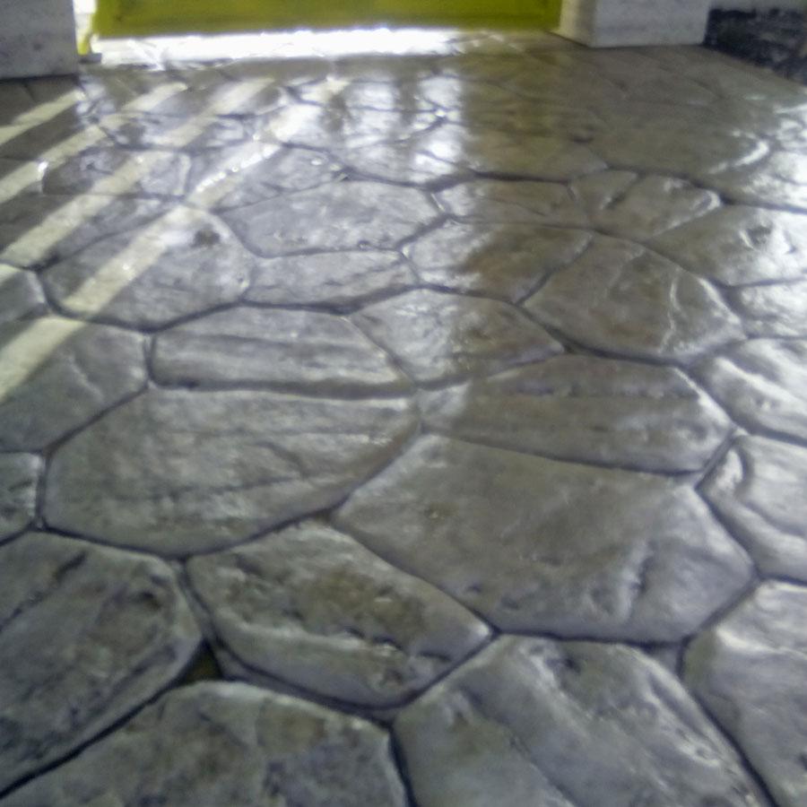 Tecnopav pavimenti per esterni in cemento stampato in - Cemento colorato per esterno ...